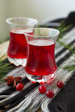 Cranberry drink. Cranberry fruit drink in a glass Stock Photos