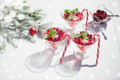 Cranberry drinks Royalty Free Stock Image