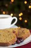 Cranberry dyniowy Chleb Zdjęcie Royalty Free
