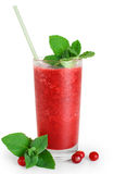 Cranberry fruit drink with mint. Juice Stock Image