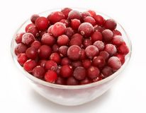 Cranberry in glass bowl Royalty Free Stock Photo