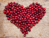 Cranberry heart Stock Images