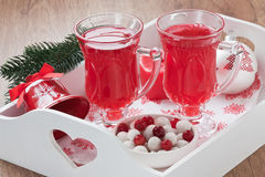 Cranberry hot drink Royalty Free Stock Image