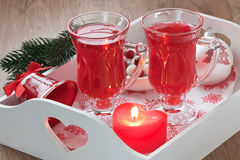 Cranberry hot drink Royalty Free Stock Photos