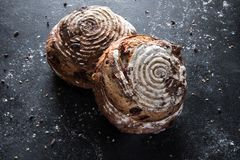 Cranberry i Pecan chlebowe rolki Obraz Royalty Free