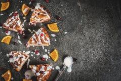 Cranberry i pomarańcze scones Zdjęcie Stock