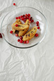 Cranberry  italian christmas cookies Royalty Free Stock Images