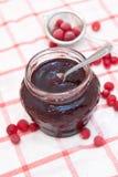 Cranberry jagod dżem Zdjęcie Stock