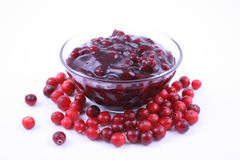 Cranberry jam Stock Photography