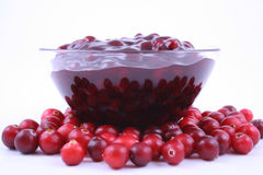 Cranberry jam Royalty Free Stock Photos