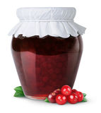 Cranberry jam stock image