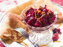 Cranberry jam Stock Photos