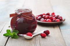 Cranberry jam Stock Photo