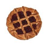 Cranberry jam pie Stock Photo