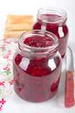 Cranberry jam Royalty Free Stock Photography