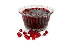Cranberry Jam With A Berries Stock Images