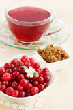 Cranberry juice and brown sugar Stock Photos