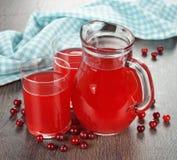 Cranberry juice Stock Image