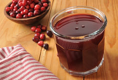Cranberry juice Stock Photos