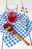 Cranberry juice Stock Image