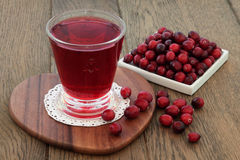 Cranberry Juice Health Drink Stock Photography