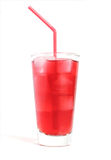 Cranberry juice with ice Stock Image