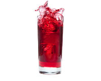 Cranberry Juice Splash Stock Photography