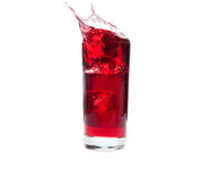 Cranberry Juice Splash Stock Images