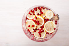 Cranberry lemon iced detox water royalty free stock images