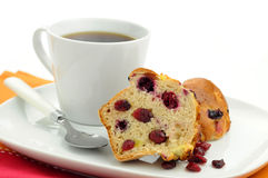 Cranberry Lemon Muffin Stock Photos