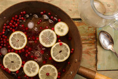 Cranberry lemon punch Royalty Free Stock Images