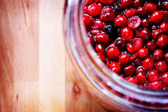 Cranberry liqueur stock photo