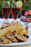 Cranberry loaf and cookies Royalty Free Stock Photography