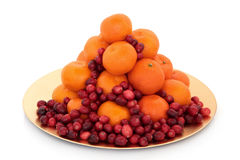 Cranberry and Mandarin Fruit Stock Photos