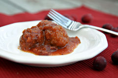 Cranberry Meatballs Stock Photos