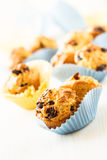 Cranberry mini-muffins in a paper molds Royalty Free Stock Photo