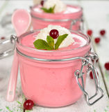 Cranberry mousse Royalty Free Stock Image