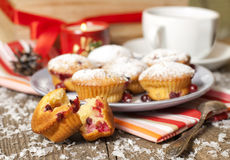 Cranberry muffins Stock Image