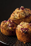 cranberry muffins owies Zdjęcia Royalty Free