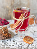 Cranberry mulled wine Stock Photos