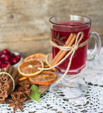Cranberry mulled wine Royalty Free Stock Photo