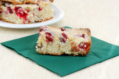 Cranberry Nut Bar Cookie Close Up Stock Photography