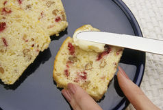 Cranberry nut bread Stock Photography