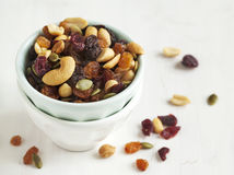 Cranberry and nuts mix Stock Photography