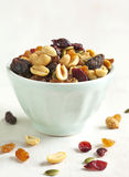 Cranberry and nuts mix Royalty Free Stock Image