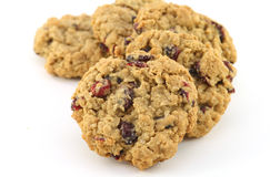 Cranberry oatmeal cookies Royalty Free Stock Image