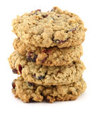 Cranberry oatmeal cookies Stock Photos