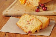 Cranberry orange bread Stock Images