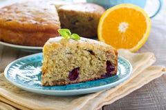 Cranberry and orange cake Stock Photos