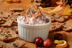 Cranberry orange cheese spread Royalty Free Stock Photography